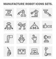Robot manufacture vector image vector image