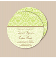 round green vintage card vector image vector image
