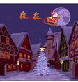 Santas Sled vector image