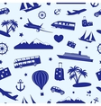 Seamless monochrome pattern on travel and tourism vector image vector image