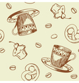 seamless pattern coffee vector image vector image