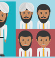 set avatars men of different diversity vector image vector image