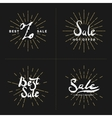 Set Hand lettering and calligraphy vector image vector image