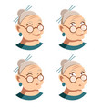 set of grandmother face icons vector image vector image