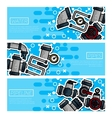 Set of Horizontal Banners about Water Pipes vector image vector image