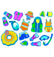 set swimming color vector image vector image