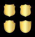 shield gold icons set shape emblem vector image vector image