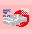 sport car for print vector image