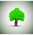 spring tree with green leaves vector image vector image