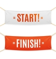 Start and Finish Banner vector image vector image