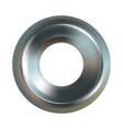 steel washer realistic steel washer icon vector image