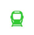 subway public transport icon on white vector image vector image
