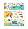 summer festival banner templates set vector image vector image