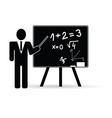 teacher with school board vector image