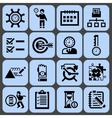 Time management icons black set vector image vector image