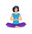 Training yoga woman vector image vector image
