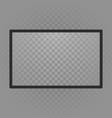 transparent television screen vector image vector image