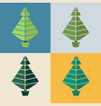 trees flat design set of trees in vector image vector image