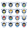 various people cartoon character vector image