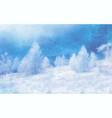 watercolor winter landscape on white vector image