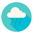 Weather Cloud Rain Circle Icon vector image