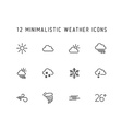 weather thin line icon set vector image