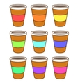 A set of coffee cups vector image