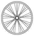 bike wheel isolated on white background vector image