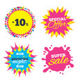 10 percent discount sign icon sale symbol vector image vector image