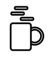 a cup of coffee icon with outline style vector image