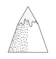 adventure landscape with snow mountain vector image