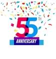 anniversary design 55th icon vector image vector image