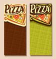 banners for pizza vector image vector image