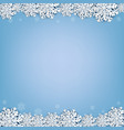 blue background with snowflake vector image vector image