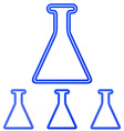 Blue line research logo design set vector image vector image