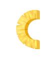 c veggie fruit letter of english alphabet made vector image vector image