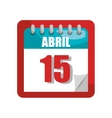 Calendar isolated flat icon vector image