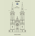 charless church in tallinn vector image vector image