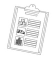 checklist icon isolated vector image