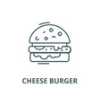 cheese burger line icon cheese burger vector image