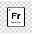 chemical element francium vector image