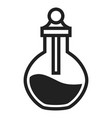 chemical flask icon simple style vector image vector image
