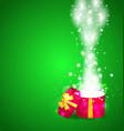 Christmas magic gift box open vector image vector image