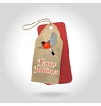 cute Happy Holidays Christmas gift tags vector image vector image