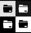 document folder icon isolated on black white and vector image vector image
