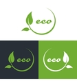 eco or bio friendly company logo green leaves vector image
