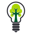 Ecology Bulb Drawing vector image vector image