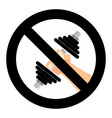 exercise forbidden symbol vector image