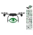 Eye Spy Drone Icon With Bonus vector image vector image