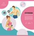 flat fitness colorful concept vector image vector image